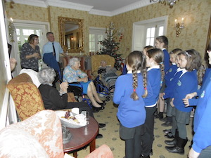 Singing for residents in Spetisbury