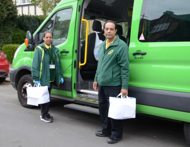 Thanks for 'community heroes' as ECT begins delivering food packages in Ealing image