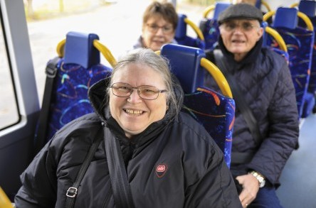 Bus pass holders travel for free on Dorset Community Transport's PlusBus image