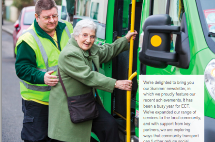 Ealing Community Transport - Summer 2015 Newsletter image