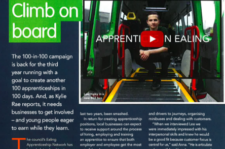 ECT apprenticeship featured in Around Ealing image