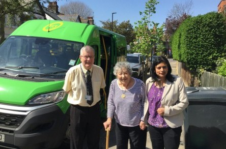 Stop the bus! MPs hitch a ride with Ealing Community Transport image