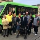 Journey Makers: Party of the century! 100 year old passenger celebrates birthday on Dorset Community Transport bus image