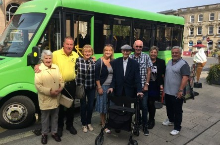 Journey Makers: Party of the century! 100 year old passenger celebrates birthday on Dorset Community Transport bus image